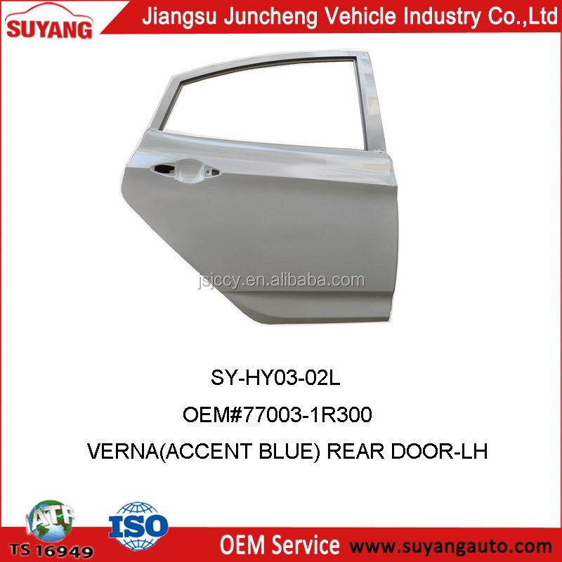 Back Door For Hyundai Verna/Accent Blue Auto Body Parts OEM#77003-1R300