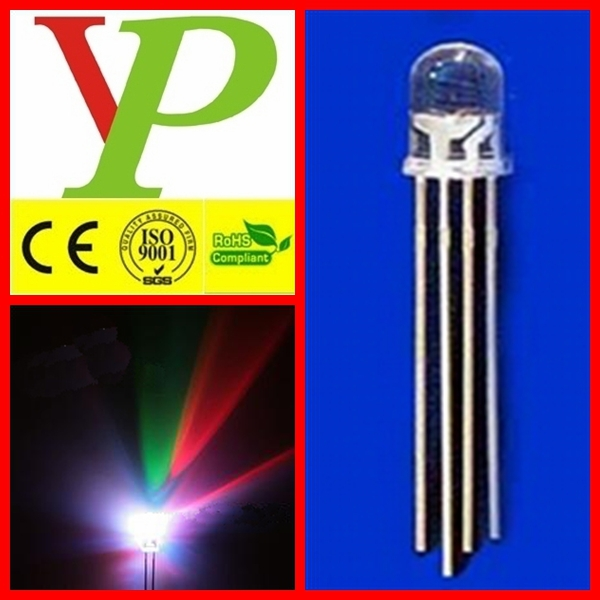 8mm rgb led diode Round/Straw hat/Flat top RGB led diode China Factory