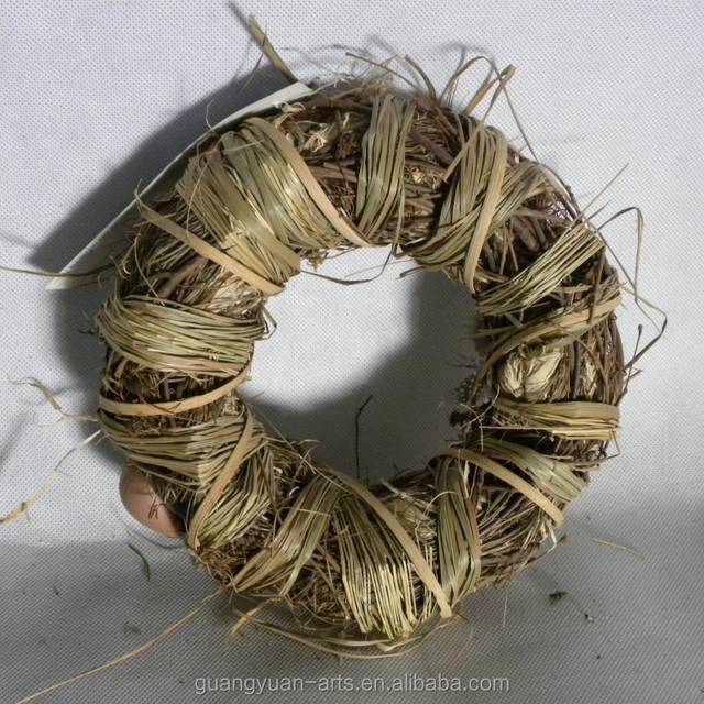 BSCI FSC natural twigs Easter ring handmade eggs wreath
