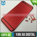 print imeil mobile phone for iphone 6 red color with black line housing made in China