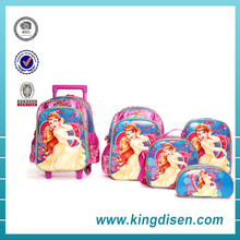 2017 Promotional EVA 3D polyester cartoon kids school bag sets