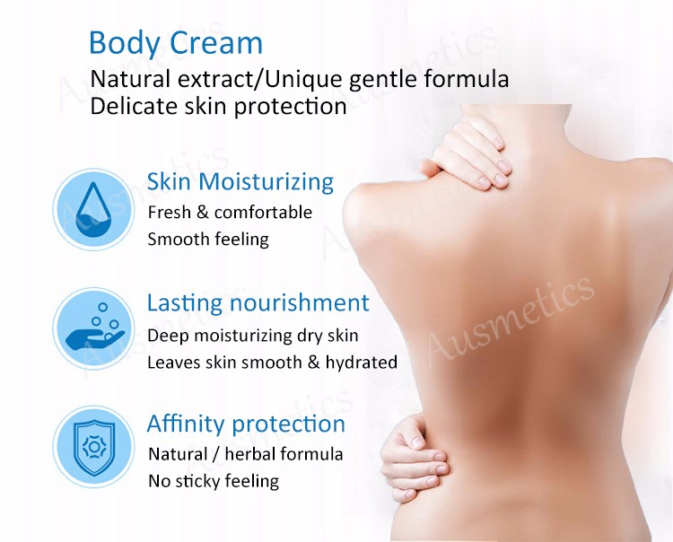 Custom natural essence water base whitening shea butter face body lotion cream body cream