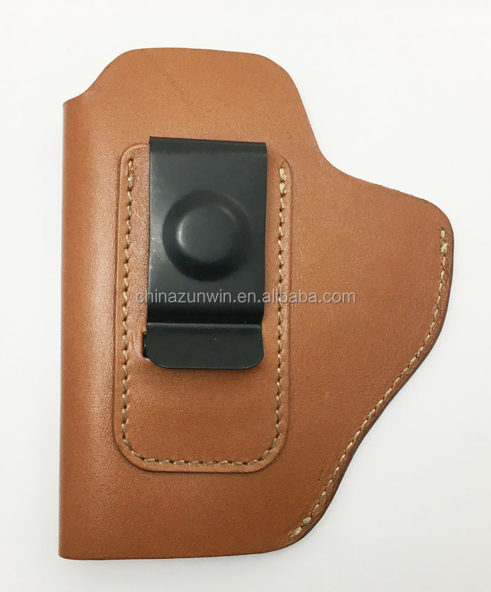 Universal Concealed Carry Belt Genuine top Leather Handgun Gun Holster