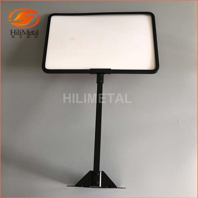 sign holder frame paper display rack