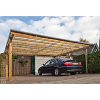 Solid Single Carports with Polycarbonate Roof