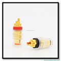 Pure Copper Gold Plated Crystal Binding Post Audio Cable Connectors Speaker Cable Amplifiers Terminals