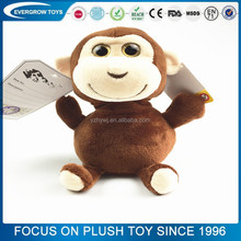 2016 hot small sitting rubber monkey toy