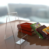 Book holder/plate/ phone /tablet acrylic display /stand perspex retail cookbook holder