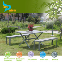 Factory Price Long Narrow Artificial Outdoor Cafeteria Furniture Walmart Restaurant Dining Fast Food Table And Chairs
