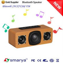 2015 factory professional manufacture wood bluetooth speaker, bluetooth speaker for office and home