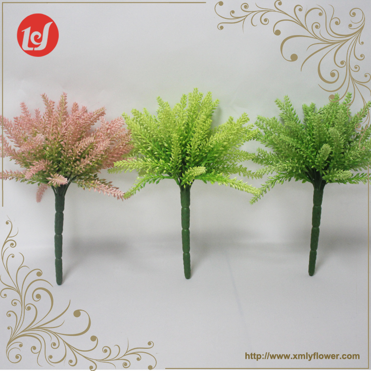 SFL93005 2017 New product christmas graden decorative plastic wheat flower bouquet cheap artificial fake greenery bunch