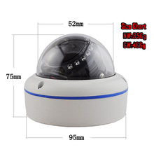 H.264 Hot Bussiness Megapixel IP Dome Camera Parts Digital Computer Focal