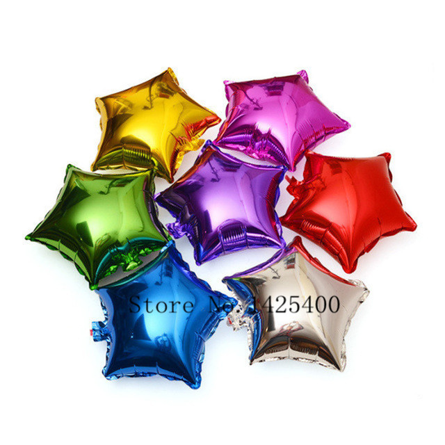 New 10pcs / lots10inch pentagram aluminum balloons birthday party decoration balloon toys for children wholesale
