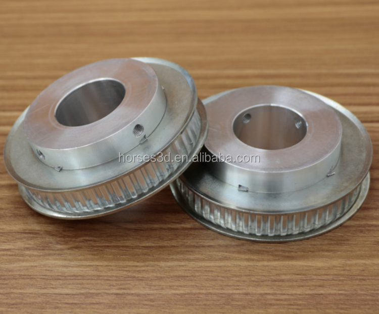high quality small flange aluminum timing pulley for skateboard