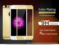 EXCO brand quality front and back 0.33mm 2.5D plating gold superhard h9 tempered glass film screen protector