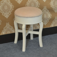 home furniture bedroom wood small round stool