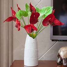 New Special design fake anthurium red flower mini potted artificial plants for home decoration