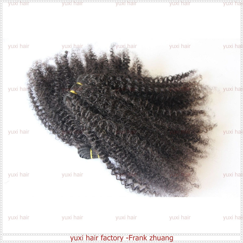 100% Virgin Kinky Curly Sew In Cheap Brazilian Human Hair Weave