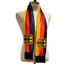 Custom Logo Printing Polyester Football Fan Sport Scarf
