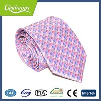 Pink dot wonderful hand made skinny polyester necktie for women