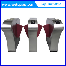 High speed automatic full height flap turnstile / security sliding gate