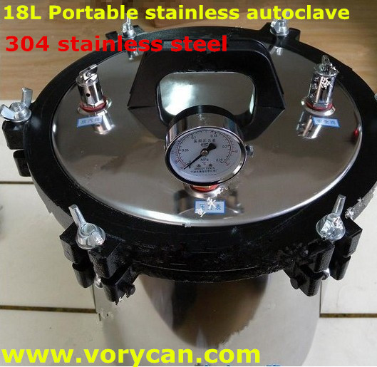 18Liters XFS-280a stainless steel portable autoclave sterilizer sterilization Pressure-cooker