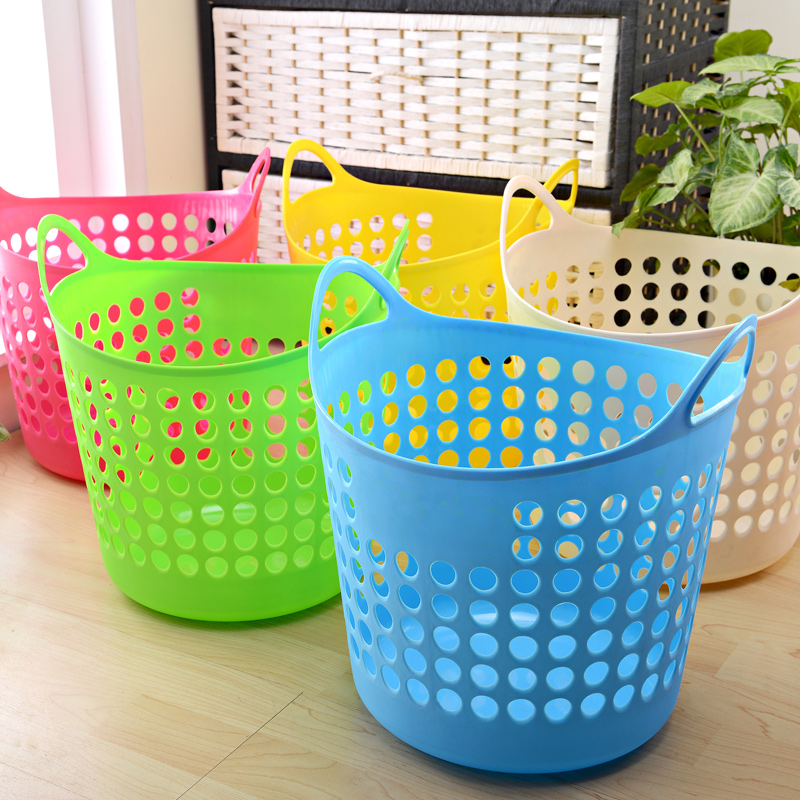 plastic laundry low price basket with handle