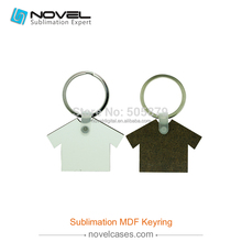 Glitter custom design MDF sublimation blank printer cloth shape keyrings