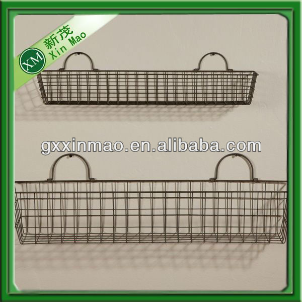 cheap wall mount wire basket for stone retaining wall