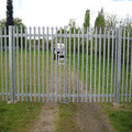 2.1mtr high triple pointed Industrial security steel palisade fencing