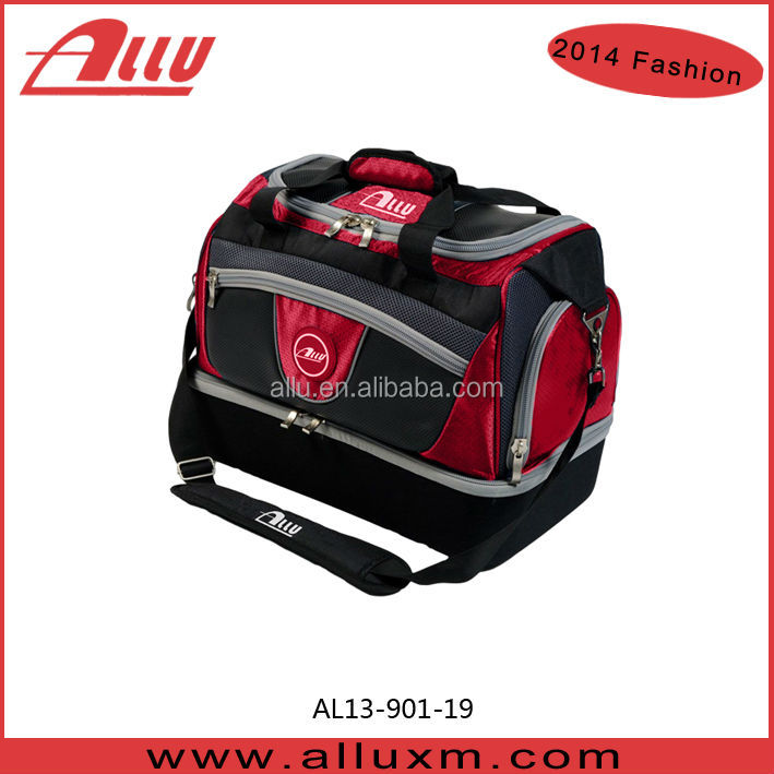 Customize lawn bowls bag with bottom compartment