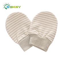 New design infant baby soft 100% organic colored cotton scratch prevention gloves baby hand gloves keeping warm all year