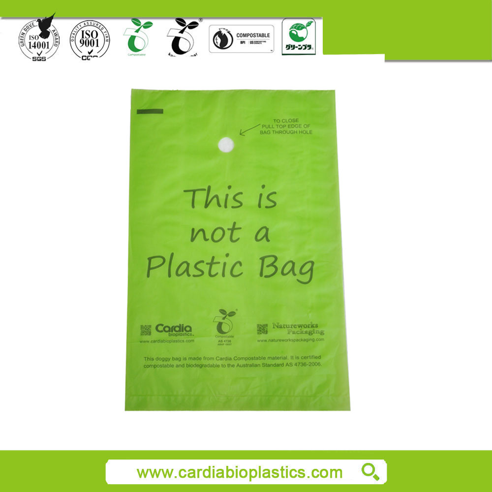 Eco-friendly biodegradable corn starch plastic bags in roll