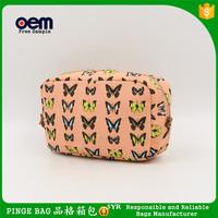 Customize Wholesale Cotton Essential Oil Pouches Travel Cheap Small Reusable Canvas Cosmetic Zipper Pouch Bag