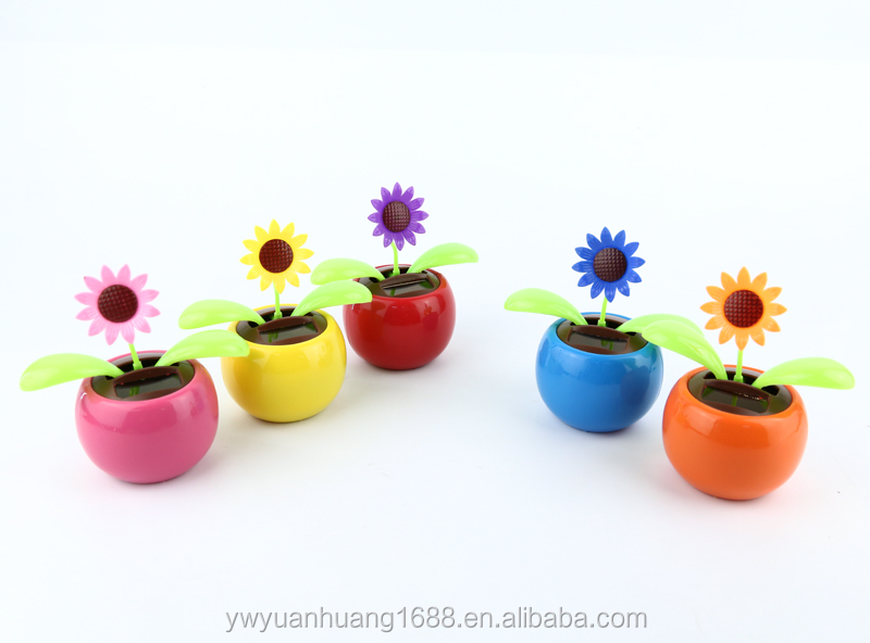 2015 hot promotion dancing flip flap solar swing flower plastic toy factory solar dancing flower