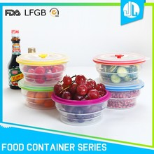 Latest design anti-aging silicone material take out food containers