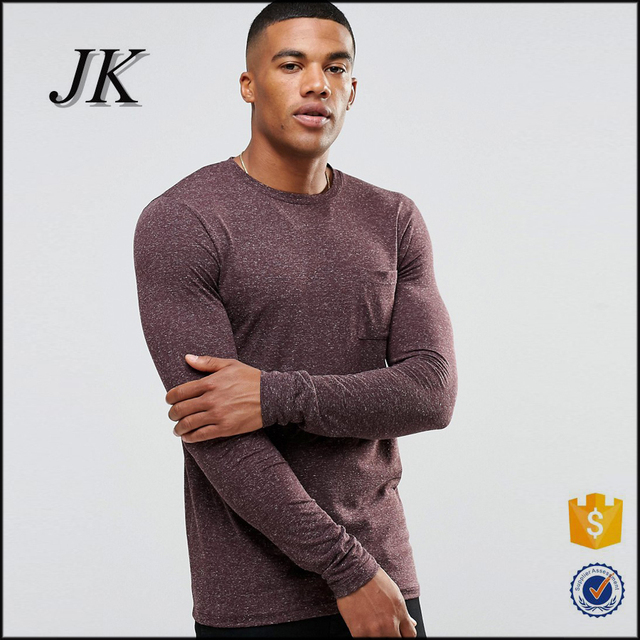 Men's long sleeve plain dyed white t-shirts manufacturer cheap bulk oxblood t-shirts for boys