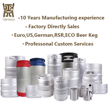 Factory Direct Sales Customized Stainless Steel Beer Keg of Euro, US, German, GB, RSR, ECO Standard with 10, 15, 20, 30, 50L