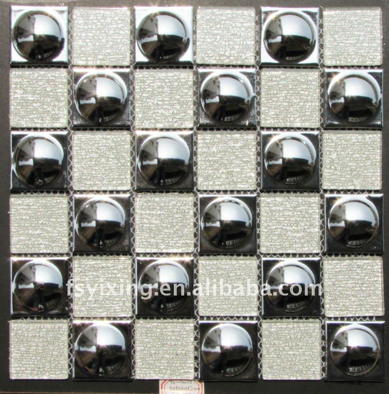 WT07 glazed metallic coating glazed ceramic mosaic tile for decorative brick,wall mosaic,floor mosaic
