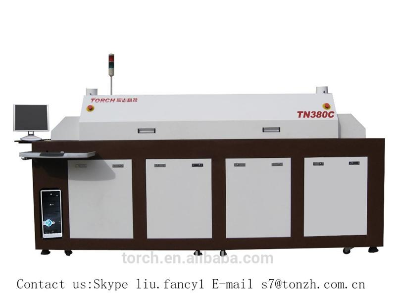 Automatic big size SMT full hot air lead free reflow Oven TN380C/PCB assembly machine
