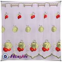 fabric for kitchen curtains,indian embroidered curtain fabric,embroidered cotton voile fabric
