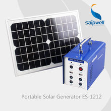 2014 Hot Portable Mini Solar DC Generator Home Solar Energy System S1206/S1207/S1212