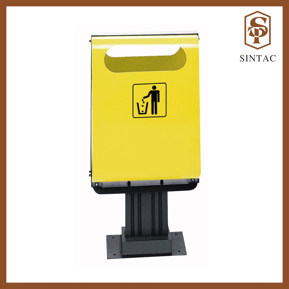 Halfer outdoor waste bin