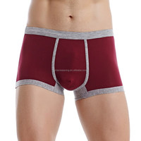 Top Quality Pure Colour Sexy Boy Modeling Underwear With Elastic Waistband Boy Teen Underwear New Design Boxer Man