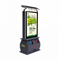 Outdoor intelligent advertising led display light box solar recycle atrash bin/dustbin/Garbage can