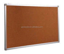portable high quality aluminum frame zinc back decorative cork board