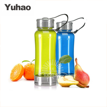 500ml bpa-free plastic sport bottle with SS bottom and lid