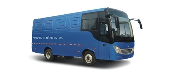 9m diesel motor bus type cargo carriage van for sale