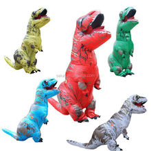 Colorful T-REX INFLATABLE hidden legs dinosaur costume New Blowup Dinosaur