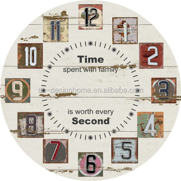 TIME ROUND MDF WALL CLOCKS